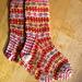 Fair Isle Stash Socks pattern