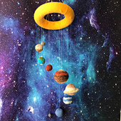Knitted Solar System Pattern by Ruth Haydock
