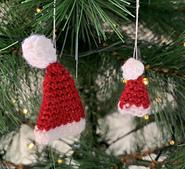 Santa Hat Tree Decoration by Ruth Haydock