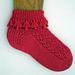 Fuchsia Flounce Socks pattern