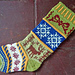 Mix-it-Up Christmas Stocking Stranded Colorwork pattern