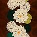 Waterlily flower runner pattern