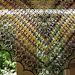 Snowflakes and Flowers Crescent Shawl pattern
