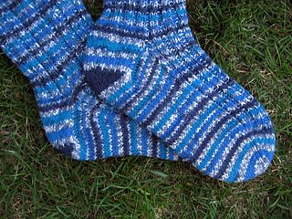 Lion Brand Magic Stripes socks