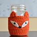 Foxy Mason Jar Cosy pattern