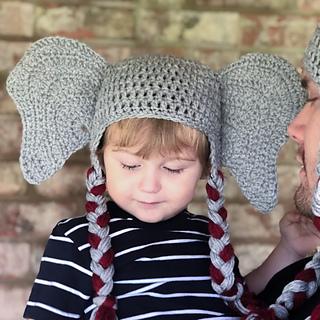 Ellie The Elephant Crochet Baby Booties | AllFreeCrochet.com | 320x320
