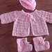 Twin Stitch Baby Sweater, Hat, and Booties pattern