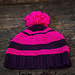 Classic hat in two colors pattern