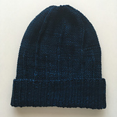 purl side out with a folded brim