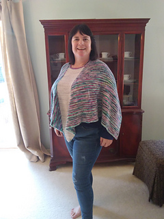 """Model is 5'-6"""" with 48"""" bust wearing Size 2, which creates a relaxed roomy fit."""
