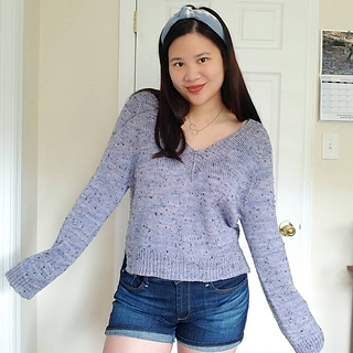 """37.5"""" sweater on 39"""" bust (1.5"""" negative ease)"""
