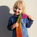 Child's Rainbow Scarf pattern