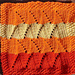 Flickering Flames Dishcloth pattern