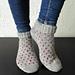 Polka Heart Socks pattern
