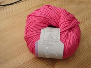 Sublime cashmere merino silk dk pink