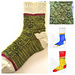 Color-block Holiday Sock 2016 pattern