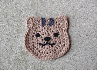 Ravelry: Peeking Cat Butt Coaster pattern by Upper Crust Crochet | 230x320
