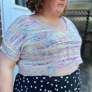 """60"""" garment on 51"""" chest, body length knit to 7"""" before upper body split."""