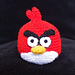 Red Angry Bird pattern