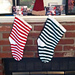 Striped knit stockings for Christmas pattern