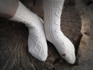 hot new products classic hot sale online Auntie Betty Aran Sock Collection pattern by Nathan Taylor