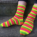 The Best Self-Striping Ribbed Socks in the World pattern