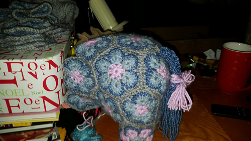 Crochet Elephant from african flowers (medium), African flower ... | 281x500