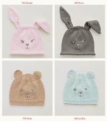 Snuggly Cotton Sirdar Rabbit /& Teddy Bear Hat Knitting Pattern 5274 DK