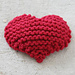 Garter Stitch Heart pattern