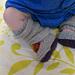 Sideways Knit Baby Leg Warmers pattern