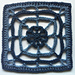 "Webbed Flower 6"" Granny Square pattern"