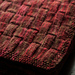 Cozy basket-weave textured blanket pattern