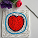 From the Heart blanket pattern