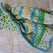 Reversible crochet blanket in seaside colors pattern