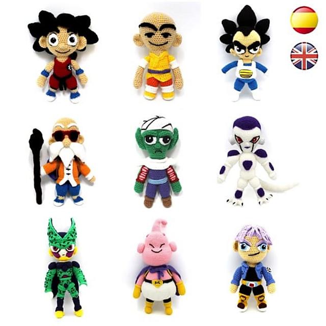 Son Goku und Vegeta Dragonball Anime Amigurumi häkeln pack | Etsy | 640x640