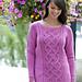 Winter Rose Sweater pattern