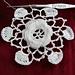 Irish Crochet baby bonnet 100 yr old pattern