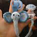 Pacifier Clips: Elephant pattern