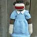 Sock Monkey Dress pattern