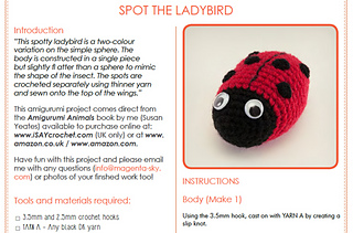 Cute Bonnie Ladybug Doll Crochet Pattern By HavvaDesigns | 211x320