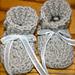 Newborn Cable Stitch Booties pattern