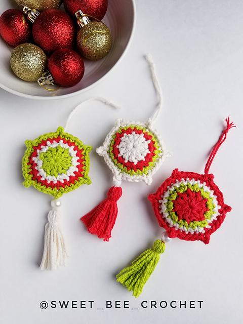 foto de Ravelry: Vintage Noel Ornament pattern by Sweet Bee Crochet