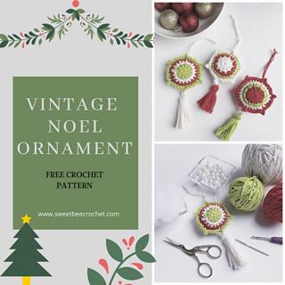 foto de Vintage Noel Ornament pattern by Sweet Bee Crochet - Ravelry