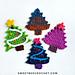 Happy Festive Tree Applique pattern