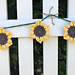 Simple Sunflower Bunting pattern