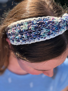 Knotted Mesh Headband by Sweet Thing Crochet
