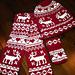 Reindeer Hat, Scarf, Mittens and Socks pattern