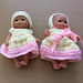 """Easter Outfit for 5"""" Baby Doll pattern"""