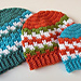 Leaping Stripes and Blocks Beanies pattern