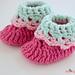 Loopy Love Newborn Baby Booties pattern
